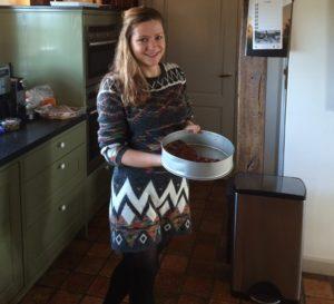 Marleen Kuypers in de keuken tijdens de afgelopen Kerst